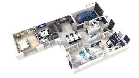 chambre 3d plan maison 3 chambres 3d gascity for