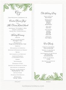 pine branch wedding program sample paperwhites wedding With sample wedding ceremony program