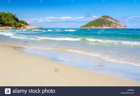 Beautiful Paradise Beach On Thassos, Greece Stock Photo