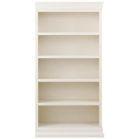 White Open Bookcase by Home Decorators Collection Louis Philippe Modular Right
