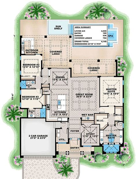 plan  dramatic florida house plan