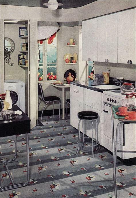 retro kitchen flooring 1938 kitchen ad for armstrong linoleum in black white 1936