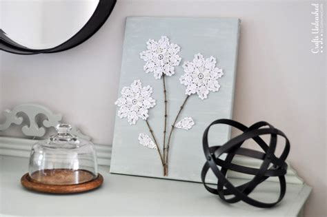 diy canvas wall art shabby chic flowers crafts unleashed