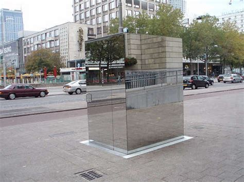 Public Bathroom Made Of 1-way Mirrors