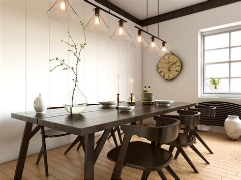 inspirational ideas  white  wood dining rooms