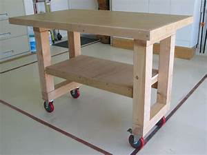diy workbench retractable casters – woodguides