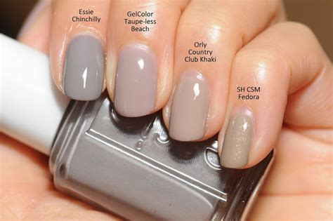 Essie Chinchilly, Opi Gelcolor Taupe-less