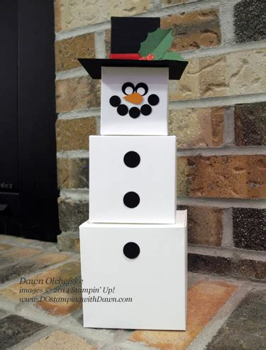 gift box punch board snowman  dostamping cards