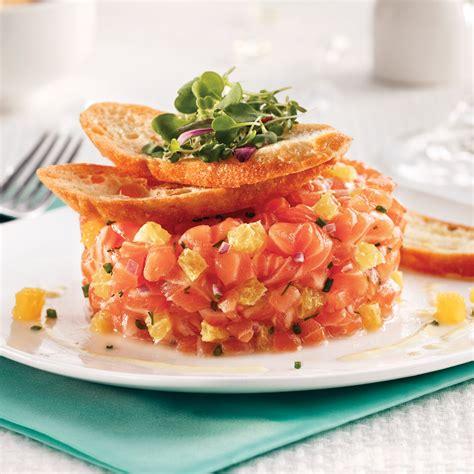 cuisine fut saumon tartare de saumon à l 39 orange et chips de recettes