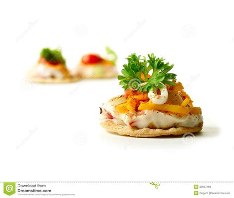 fresh canapes fresh canape 2 royalty free stock image image 33667286