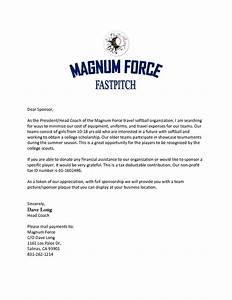 sample sponsorship letter for softball team best photos With softball fundraiser letter