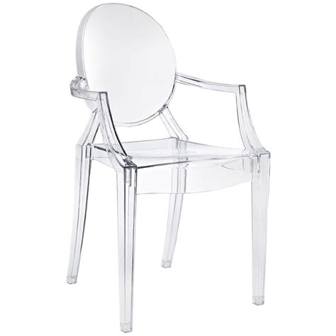 chaise starck transparente louis ghost chair kartell