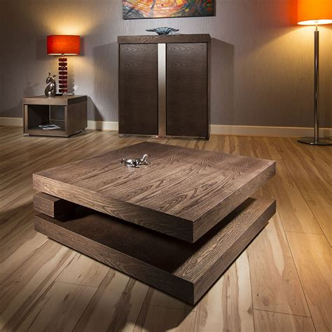 huge square coffee table large square coffee table in dark elm modern designer 397e