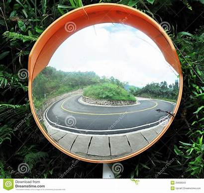Mirror Turning Angle Road Reflection Drive Dreamstime