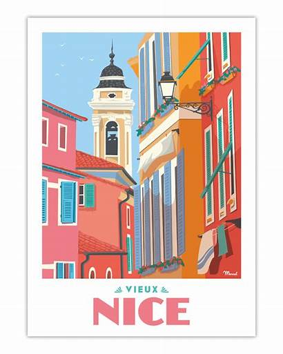 Nice Poster Vieux Le Travel Marcel Posters