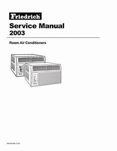 Friedrich 2003 Air Conditioner User Manual