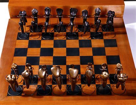 unusual  interesting chess set designs