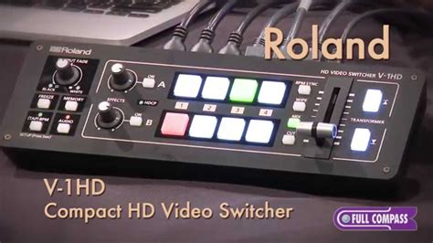 Roland Compact Video Audio Switcher Mixer Overview
