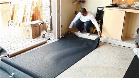 flooring inc how to install rubber underlayment youtube