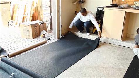 vinyl garage floor photos how to install rubber underlayment