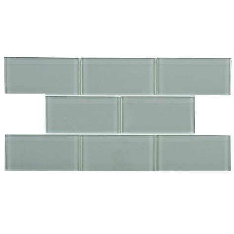 Home Depot Merola Subway Tile by Merola Tile Tessera Subway Blue Smoke 3 In X 6 In Glass