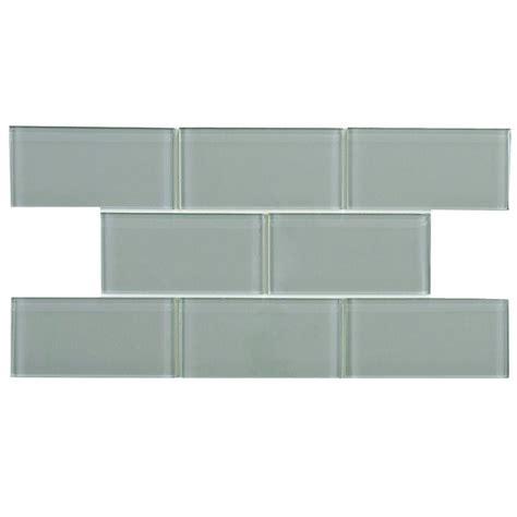 home depot merola subway tile merola tile tessera subway blue smoke 3 in x 6 in glass