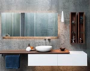 Gäste Wc Spiegel Mit Beleuchtung : spiegel mit indirekter beleuchtung im modernen bad salle ~ A.2002-acura-tl-radio.info Haus und Dekorationen