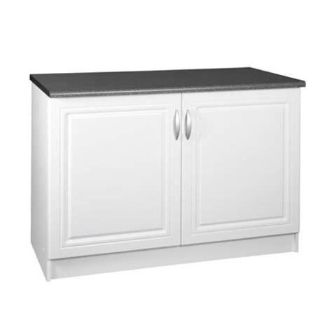 plan de travail conforama meublesline meuble de cuisine bas 120 cm 2 portes dina blanc avec moulures pas cher achat