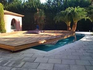 terrasse piscine coulissante With piscine sous terrasse amovible 1 la terrasse mobile de piscine notre avis