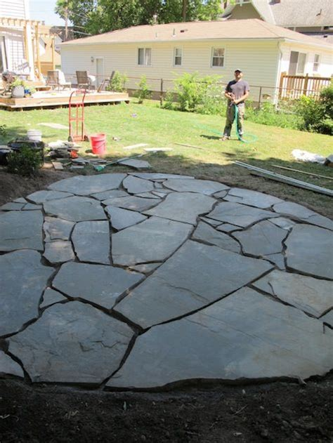 new patio how to build and install a flagstone