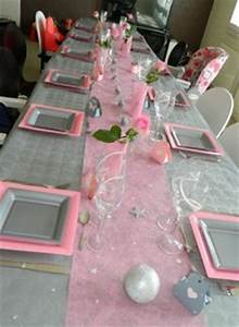Deco Table Rose Et Gris : table de f te rose et gris pour mariage ou anniversaire ~ Melissatoandfro.com Idées de Décoration