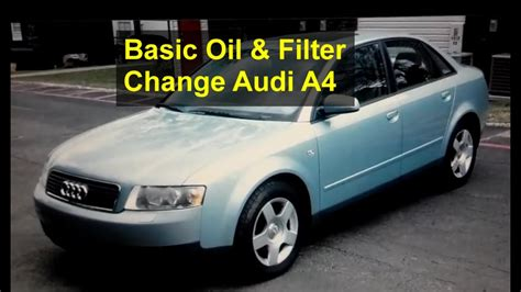 basic oil  filter change   audi  auto repair
