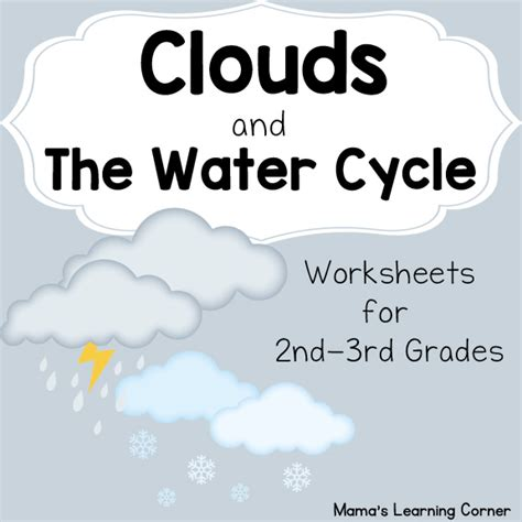 clouds   water cycle worksheets mamas learning corner