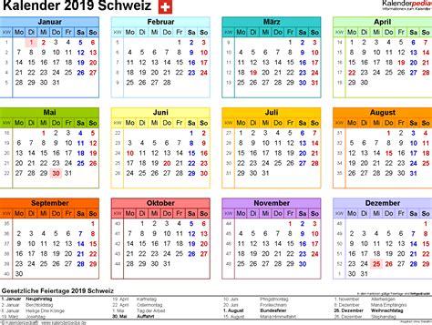 kalender schweiz zum ausdrucken als