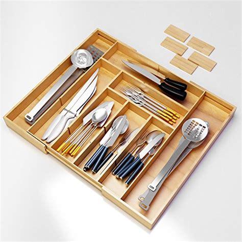 Kitchen Drawer Organizer Adjustable by Silverware Kitchen Drawer Organizer Expandable Bamboo