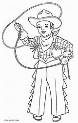 Cowboy Coloring Printable Cool2bkids sketch template
