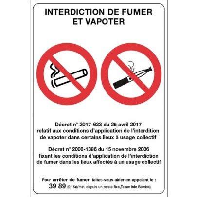 cuisiner bar panneau interdit intediction de fumer et vapoter 15 x 21