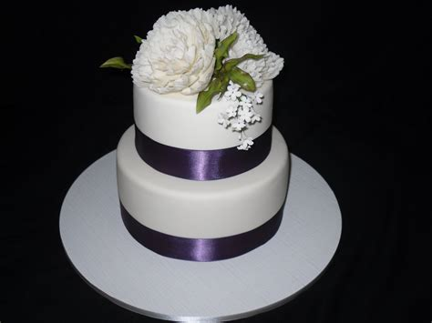 Purple Band Wedding Cake