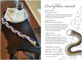 cord of three strands heathers glen wedding event center