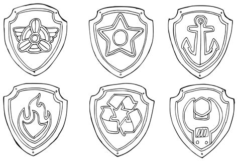 badge coloring page paw patrol coloring badges coloring pages