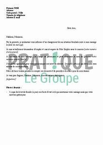 Modèle Changement D Adresse : lettre d 39 information d 39 un changement de situation pour p le emploi mariage ~ Gottalentnigeria.com Avis de Voitures