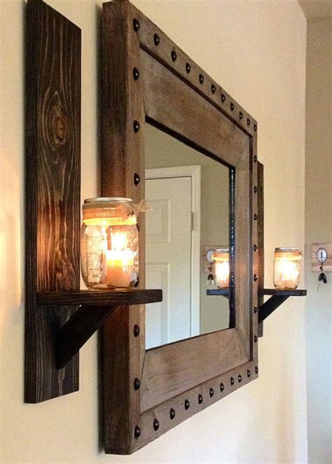 rustic wall candle holders rustic wall sconce rustic candle holder jar