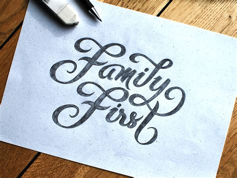 Family First Handlettering  By Björn Berglund Creative. Ovulation Signs. Whatsapp Profile Banners. The Seventh Sign Signs Of Stroke. Sandblasted Signs. Hidden Meaning Logo. Social Media Marketing Banners. Free Fire Safety Signs Of Stroke. Native Logo