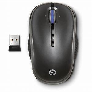 HP 2.4GHz Wireless Optical Mouse (Charcoal) XP355AA#ABL B&H