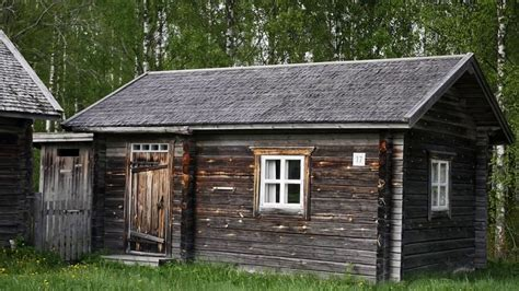 traditional finnish log house     house