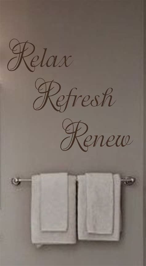 relax refresh renew vinyl wall decal bathroom bedroom