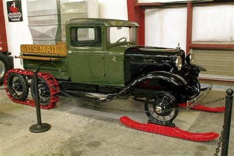ford model  truck  fitted  skis   extra