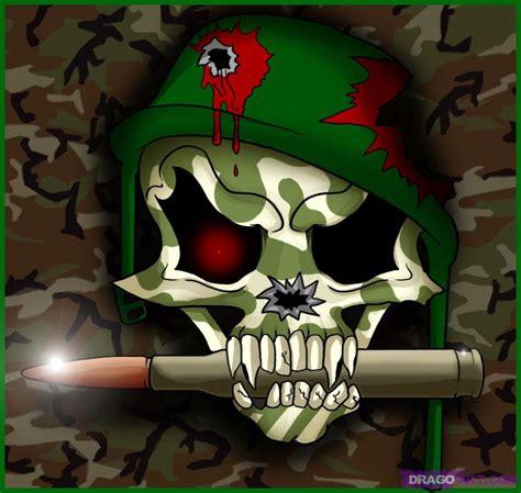 How Draw Soldier Skull Step Skulls Pop