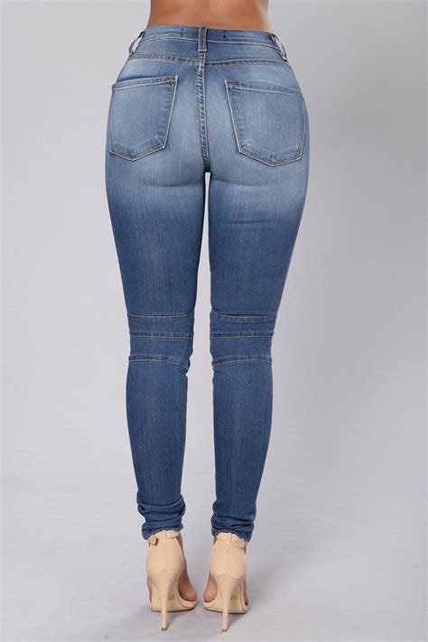 oliver moto jeans medium blue