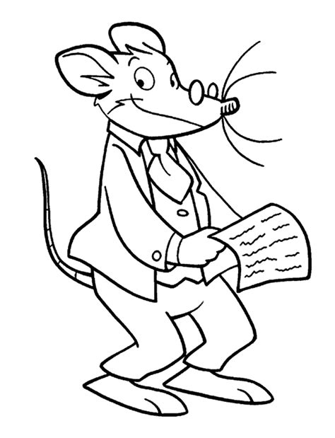 Thea Kleurplaten by Geronimo Stilton Coloring Pages To And Print For Free